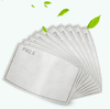 5 Layer Pm2.5 Filter Anti Dust Cotton Face Maskes Filter Pm 2.5 Activated Carbon Maskes Filter