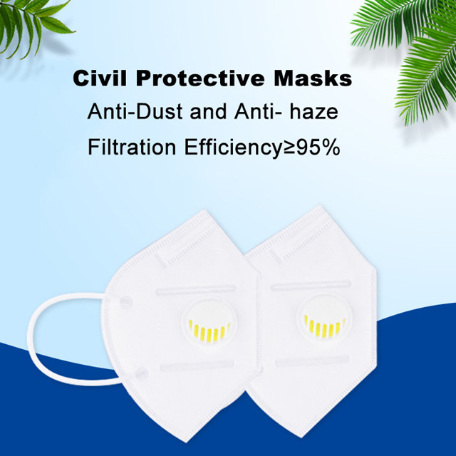 CE FDA Factory Direct Saftety Anti-Virus Protective KN95 Mask with Valve